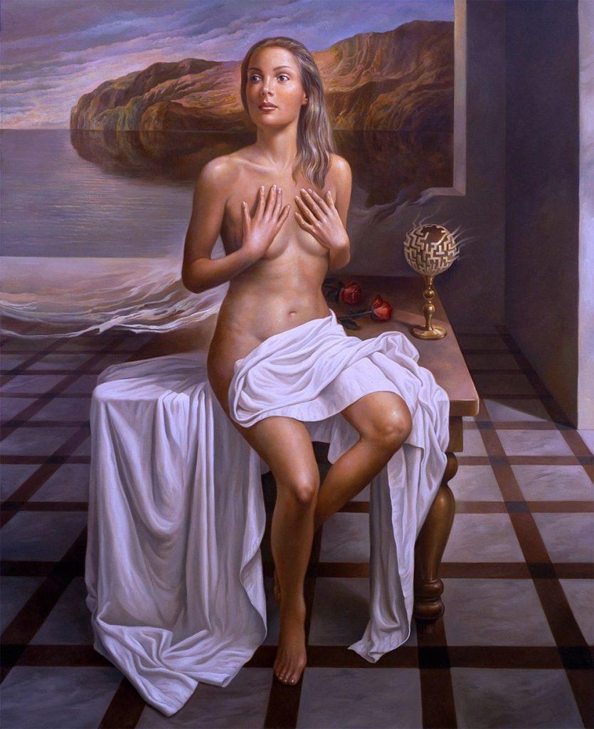 Laberintos del alma XXI. Oleo sobre lienzo 152x122 cm.