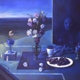 Bodegon azul. Oleo sobre lienzo 152×121 cm