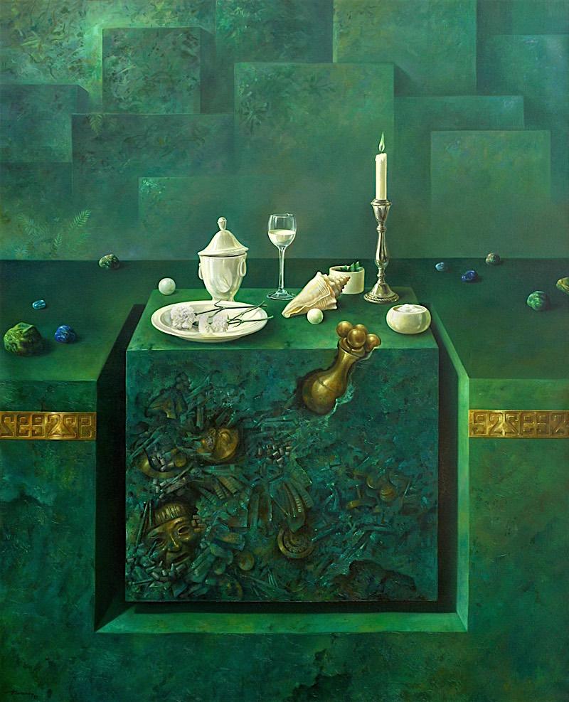 Bodegon. Oleo sobre lienzo 162x130 cm