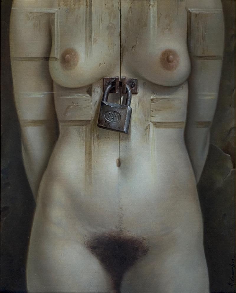 El candado. Oleo sobre lienzo 41x33 cm
