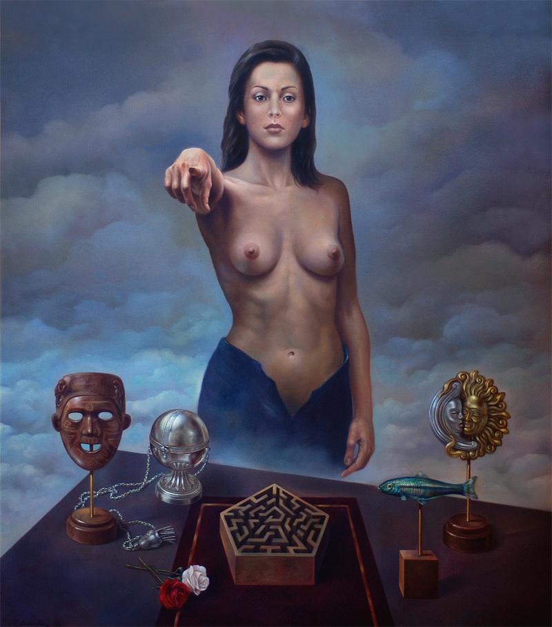 El enigma. Oleo sobre lienzo 132x114 cm