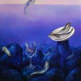 La ultima copa. Oleo sobre lienzo 61×50 cm