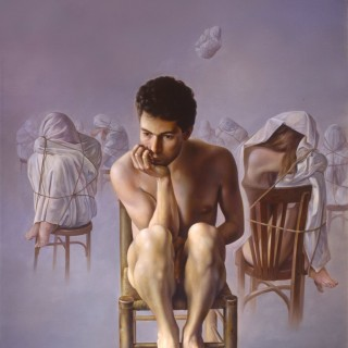 Populated loneliness. Oil on canvas 57×44 inches