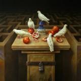 Laberintos XX. Oleo sobre lienzo 148×114 cm