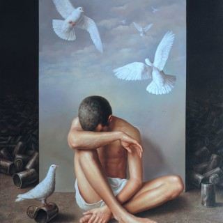 Dream of freedom. Oil on canvas 60×48 inches.